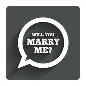 Marry me speech bubble sign — Stock Vector