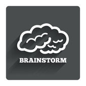 Brainstorm sign — Vector de stock