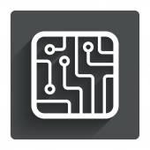 Printplaat teken — Stockvector