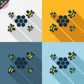 Honeycomb icons — Vettoriale Stock