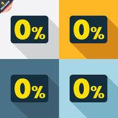 Zero percent signs — Stock Vector