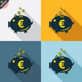 Piggy bank signs — Vettoriale Stock