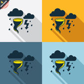 Storm bad weather signs — Stock Vector