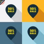 50-процентный указатель продаж — Cтоковый вектор