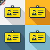 ID card icons — Stock Vector
