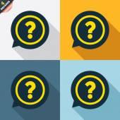 Punto interrogativo icone — Vettoriale Stock