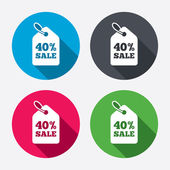 40 percent sale price — Stock Vector