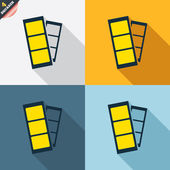 Photo booth strips signs — Cтоковый вектор