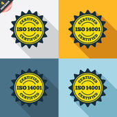 ISO 14001 certified signs — Stock Vector