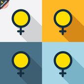 Icone femminile — Vettoriale Stock