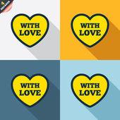 With Love symbols — Vettoriale Stock