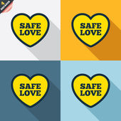 Safe love signs — Stock vektor