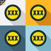 XXX signs — Stock Vector