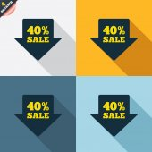 40-процентная стрела продаж — Cтоковый вектор