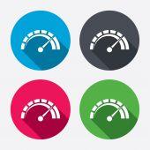 Rychloměr znak ikony — Stock vektor