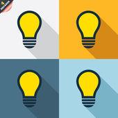 Light lamp signs — Vettoriale Stock