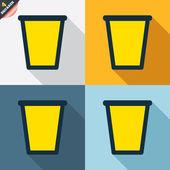 Recycle bin signs — Stock Vector