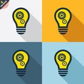 Light lamp icons — Stock Vector