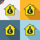 Icone di ipoteca — Vettoriale Stock