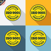 ISO 9001 certified signs — Stock Vector