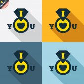 I Love you signs — Vettoriale Stock