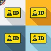 Icone di carta d'identità — Vettoriale Stock