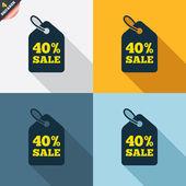 40-процентная отпускная цена — Cтоковый вектор