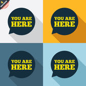 You are here signs — Vetorial Stock