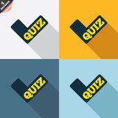 Quiz signs — Vettoriale Stock
