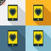 Smartphone ochranu známky — Stock vektor
