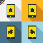 Smartphone virus sign icons — Vetorial Stock