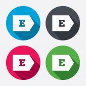 Energy efficiency class E. — Stock Vector
