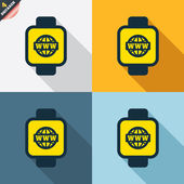 Smart watch icons — Stock Vector