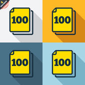 In pack 100 sheets signs — Stock Vector