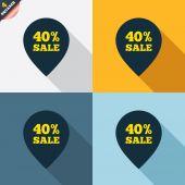 40-процентный указатель продаж — Cтоковый вектор