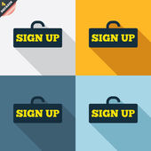 Sign up signs — Stock Vector
