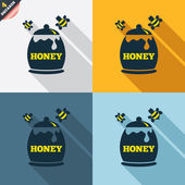 Honey in pot signs — Stockvektor
