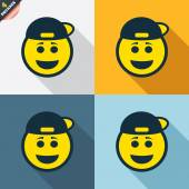 Smile rapper face icons — Stock Vector
