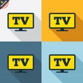 Widescreen TV icons — Stock Vector