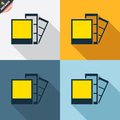 Photo frame template icons — Vetorial Stock