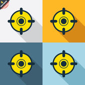 Crosshair sign icons — Stockvektor