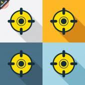 Crosshair sign icons — Cтоковый вектор