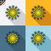 Snowflake artistic sign icons — Stock Vector