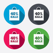 40 percent sale bag — Stock Vector