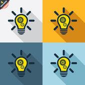 Známky světlo lampy — Stock vektor