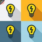 Light lamp icons — Vettoriale Stock