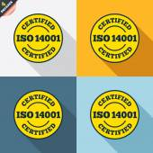 ISO 14001 certified signs — Vetorial Stock
