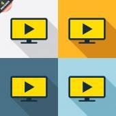 Widescreen TV mode signs — Stock Vector