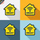 Smart home signs — Stock Vector