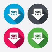 40 percent sale arrow — Stock Vector